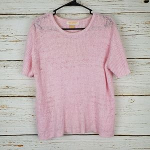 Brooks Brothers Pink Short Sleeve Sweater